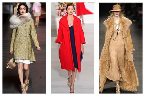 Модные фасоны осенних женских пальто 2013